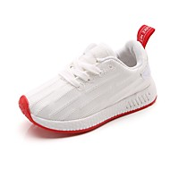 baratos Sapatos de Menino-Para Meninos / Para Meninas Sapatos Tricô Primavera / Outono Conforto Tênis Cadarço para Branco / Preto / Rosa claro