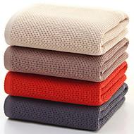tanie Ręcznik kąpielowy-Świeży styl Ręcznik kąpielowy, Jendolity kolor Najwyższa jakość 100% bawełna Tkana Plain Ręcznik