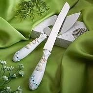 hesapli Servis Setleri-Reçine Romantizm Fantezi Düğün Hediye Kutusu Eşsiz Düğün Dekorları Pasta Üzeri Süsü Çatal Bıçak Takımı Bıçaklar Kürek Pasta Aksesuarları