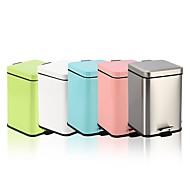 billiga Köksförvaring-12l kub rostfritt stål padel långsam typ dämpad papperskorgen kan fingeravtryck resistent aska kan makaroner färgglada skräp kan n49-12l