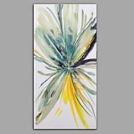 voordelige -Handgeschilderde Abstract Bloemenmotief/Botanisch Pystysuora panoraama, Hedendaags Modern Kangas Hang-geschilderd olieverfschilderij