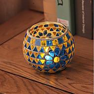 billiga Heminredning-Landsbygd / Rustik / Europeisk Stil Glas Ljushållare 1st, Ljus / ljushållare