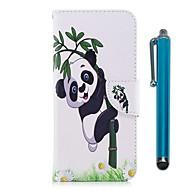 billiga Mobil cases & Skärmskydd-fodral Till Huawei P9 lite mini P10 Lite Korthållare Plånbok med stativ Lucka Magnet Fodral Panda Hårt PU läder för P10 Lite P10 P9 lite