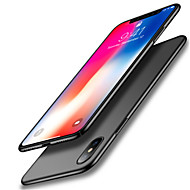 billiga Mobil cases & Skärmskydd-fodral Till Apple iPhone X Stötsäker Ultratunt Ensfärgat Mjukt för