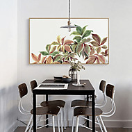 billige Innrammet kunst-Botanisk Blomstret/Botanisk Tegning Veggkunst,Plastikk Materiale med ramme For Hjem Dekor Rammekunst Stue Innendørs