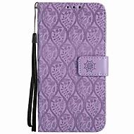 billiga Mobil cases & Skärmskydd-fodral Till Sony Xperia L1 Xperia E5 Korthållare Plånbok Stötsäker med stativ Lucka Fodral Ensfärgat Hårt PU läder för Sony Xperia XZ