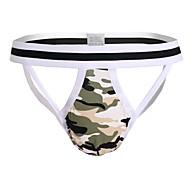 Herre Super Sexy G-string Undertøj Camouflage Høj Talje / Tynde