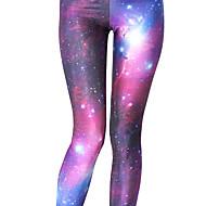 Damen Yoga-Hose Sport Galaxy-Print Strumpfhosen / Lange Radhose Leggins Zumba Laufen Fitness Sportkleidung Leicht Atmungsaktiv Rasche Trocknung Dehnbar Skinny