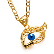 Men's Women's Pendant Necklace Gold Plated Evil Eye Fashion Gold Necklace Jewelry One-piece Suit For Birthday Gift