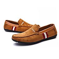 Homens sapatos Pele Primavera Outono Mocassim Sapatos de Barco Laço para Casual Preto Marron Azul