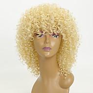 Sintentička kosa perika Kinky Curly Afro-američka perika Capless Party perika Prirodna perika 8-11inch Plavuša