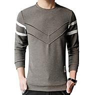 Veći konfekcijski brojevi Majica s rukavima Muškarci Jednobojni Okrugli izrez Slim Pamuk