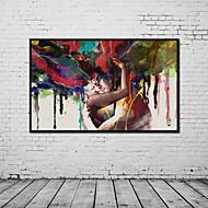 halpa Tulosteet-Valssatut kangasjulisteet 1 paneeli Kangas Pystysuora panoraama Painettu Wall Decor Kodinsisustus