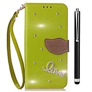 billiga Mobil cases & Skärmskydd-fodral Till Vivo X20 Plus X20 Korthållare Plånbok Strass med stativ Lucka Fodral Ensfärgat Hårt PU läder för vivo X20 Plus vivo X20
