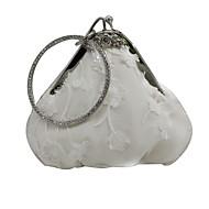baratos Clutches & Bolsas de Noite-Mulheres Bolsas Cetim Bolsa de Festa Renda Branco