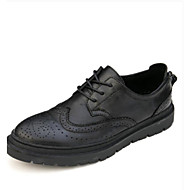 cheap Men's Oxfords-Men's Shoes Suede Spring Summer Comfort Oxfords for Casual Black Brown