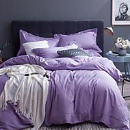 tanie Solid Duvet Okładki-Zestawy kołdra okładka Jendolity kolor 4 elementy Poly / Cotton 100% bawełna Przędza barwiona Poly / Cotton 100% bawełna 1szt kołdrę 2szt