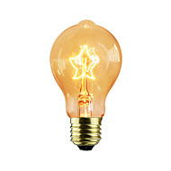billige Glødelampe-1pc 40W E27 E26/E27 E26 A60(A19) 2300 K Glødende Vintage Edison lyspære 220V-240V V