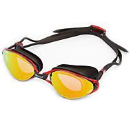 billiga Swim Goggles-Simglasögon Anti-Dimma Anti - Slit Justerbar storlek Anti-UV Reptåligt Stöttålig Anti-halk band Vattentät Plätering Kiselgel PC Svart Blå
