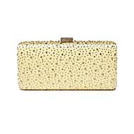 baratos Clutches & Bolsas de Noite-Mulheres Bolsas Seda Bolsa de Festa Detalhes em Cristal Azul / Dourado / Prata