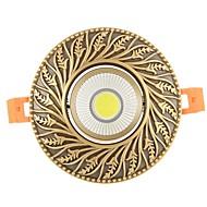 baratos Luzes LED de Encaixe-ZHISHU 1pç 9W 1 LEDs Instalação Fácil Encaixe Tricolor Downlight de LED 110-120V 220-240V