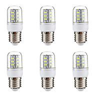 BRELONG® 6stk 3W 270lm E14 E26 / E27 LED-kolbepærer 24 LED Perler SMD 5730 Varm hvid Hvid 220-240V