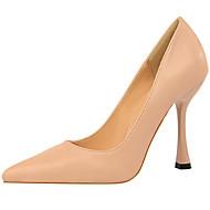 Mujer Zapatos Aterciopelado / Cuero Nobuck Primavera / Verano Pump Básico Tacones Tacón Stiletto Dedo redondo Pedrería / Perla de iGVDh