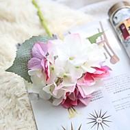 Χαμηλού Κόστους Μοναδικό σπίτι διακόσμηση-Ψεύτικα λουλούδια 1 Κλαδί Rustic / Γάμος Ορτανσίες Λουλούδι για Τραπέζι