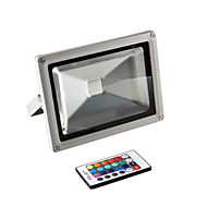 baratos Focos-1pç 20 W Focos de LED Impermeável / Controlado remotamente / Regulável RGB 85-265 V Iluminação Externa / Pátio / Jardim 1 Contas LED