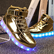 cheap -Boys' Shoes PU(Polyurethane) Spring Comfort / Light Up Shoes Sneakers Walking Shoes Lace-up / Hook & Loop / LED for Silver / Blue / Pink