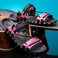 tanie Obuwie męskie-Męskie Komfortowe buty Skóra nappa Lato Klapki i japonki Niebieski / Różowy / Burgundia
