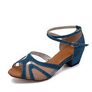 Dámské Boty na latinskoamerické tance Třpytky   Syntetika Sandály akrylový  diamant Kačenka Obyčejné Taneční boty Tmavě fialová     Kůže 427e271cde