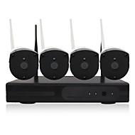 tanie Zestawy z rejestratorem sieciowym (NVR)-yanse® 1080p plug and play bezprzewodowy zestaw nvr hd ir noktowizor bezpieczeństwa kamera ip