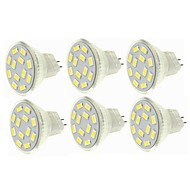 billige -SENCART 6pcs 6W 450 lm G4 MR11 LED-spotpærer MR11 12 leds SMD 5730 Dekorativ Varm hvit Kjølig hvit 12-24V