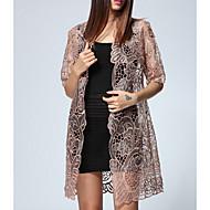 casaco feminino - pescoço v sólido