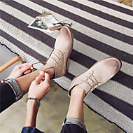 Muškarci Cipele Nubuk koža Jesen Zima Čizmice Čizme za Kauzalni Crn Sive boje Deva