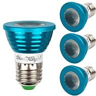 billige Spotlys med LED-YouOKLight 4stk 3W - E26 / E27 LED-spotpærer 1 LED perler Høyeffekts-LED Mulighet for demping Dekorativ Fjernstyrt RGB 85-265V