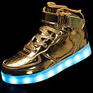 baratos Sapatos de Menina-Para Meninos / Para Meninas Sapatos Couro Ecológico Outono Conforto / Tênis com LED Tênis Cadarço / Colchete / LED para Prata / Azul / Rosa claro