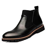 Hombre Zapatos PU Otoño Confort / Botas de Combate Botas Botines / Hasta el Tobillo Dorado / Negro / Borgoña 63N0pXtAaH