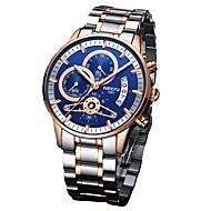 Homens Quartzo Único Criativo relógio Relógio Militar Japanês Cronógrafo Impermeável Mostrador Grande Aço Inoxidável Banda Luxo Fashion