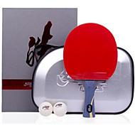 baratos Tenis de Mesa-DHS® Hurricane HAO FL Ping Pang/Tabela raquetes de tênis De madeira Fibra de carbono Borracha Cabo Comprido Espinhas