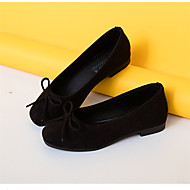 cheap Women's Flats-Women's PU(Polyurethane) Fall Comfort Flats Flat Heel Round Toe Appliques Red / Pink / Khaki / Dress