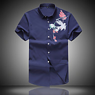 Veći konfekcijski brojevi Majica Muškarci Dnevno Pamuk Cvjetni print Životinja