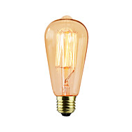 billige Glødelampe-1pc 25W E26 / E27 ST64 2300k Glødende Vintage Edison lyspære 220V 220-240V