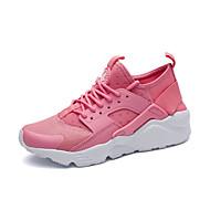 baratos Sapatos Masculinos-Homens Tule Primavera / Outono Conforto Tênis Caminhada Branco / Preto / Rosa claro