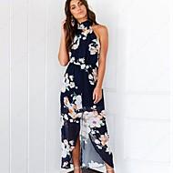 Mulheres Chifon Vestido - Estampado, Floral
