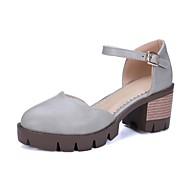e3f4d9080b Mulheres Sapatos Materiais Customizados   Courino Primavera   Outono  Conforto   Inovador Saltos Salto Robusto Ponta Redonda Marron