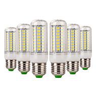billige Kornpærer med LED-YWXLIGHT® 6pcs 7W 600-700 lm E14 E26/E27 LED-kornpærer 72 leds SMD 5730 Dekorativ Varm hvit Kjølig hvit AC 220-240V