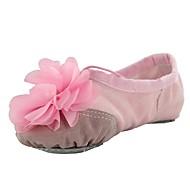 billige Kustomiserte dansesko-Ballettsko Lerret Flate Blomst Flat hæl Kan spesialtilpasses Dansesko Svart / Beige / Rosa / Trening