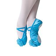 billige Ballettsko-Dame Ballettsko Silke Flate Flat hæl Kan spesialtilpasses Dansesko Beige / Blå / Trening